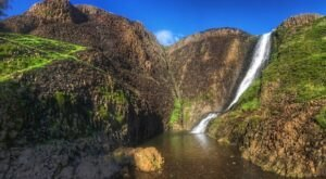 A Simple Half-Mile Trail Takes You Directly To Hollow Falls, A Unique Waterfall In Northern California