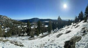 The Trail To Tamarack Peak In Nevada Is Secluded With Spectacular Winter Views