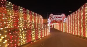 Zoom Around A Racetrack Lined With Millions Of Christmas Lights At Peppermint Parkway In Texas