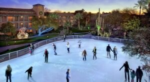 There's Nothing More Special Than An Evening On This 6,000-Square-Foot Natural Ice Skating Rink In Arizona