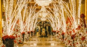 The Roosevelt Hotel Lobby Has One Of The Most Enchanting Christmas Displays In New Orleans