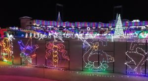More Than 3 Million Christmas Lights Adorn Constellation Field At Sugar Land Holiday Lights In Texas
