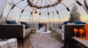Sip Cocktails Inside A Private Igloo At Winterproof In Texas