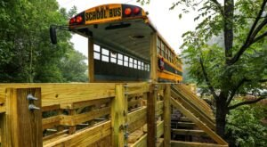 Cross A School Bus Covered Bridge And Enjoy Mountain Views On This Rail Trail In Kentucky