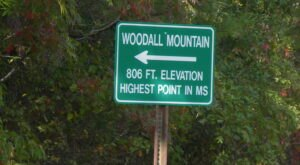 Just Over 800 Feet, Woodall Mountain Is The Highest Point In Mississippi And You Can Walk Straight To Its Peak