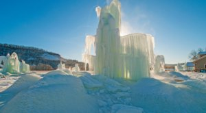 Nelson's Artesian Ice Formations In Wisconsin Only Get Bigger As The Weather Gets Colder