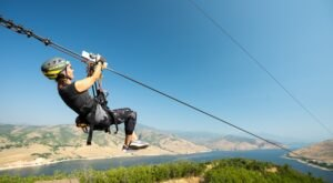 Take A Ride On The Longest Zipline In Utah At Deer Creek State Park