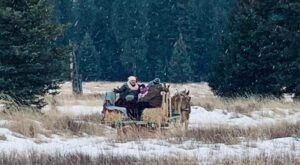 Take A Sleigh Ride And Stay At An Idyllic Winter Lodge With Klazy3 Sleigh Rides In Montana