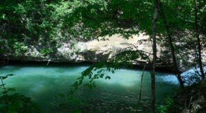 This Hidden Natural Pool Has Some Of The Bluest Water In Alabama