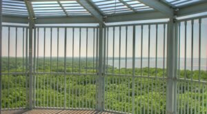 Climb 170 Steps To The Top Of The Cordova Park Tower In Iowa And You Can See All The Way Across Lake Red Rock