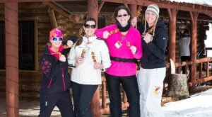 Ski Between Delicious Food And Beverage Stations During The Skiable Feast In Michigan
