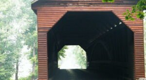 The Longest Covered Bridge In Virginia, Meems Bottom Bridge, Is 204 Feet Long