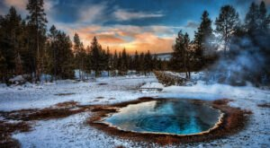 More Than 10,000 Hydrothermal Natural Wonders Grace The Wyoming Landscape In Yellowstone National Park