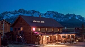 Enjoy A View Of The Sawtooth Mountains From Your Room At This Log-Cabin Hotel In Idaho