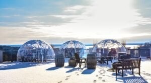 Sip Superb Wine In An Igloo When You Visit Chateau Chantal Winery In Michigan