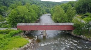 The Longest Covered Bridge In Connecticut, West Cornwall Covered Bridge, Is 172 Feet Long