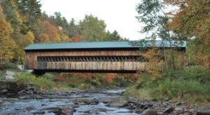 The Longest Covered Bridge In Massachusetts, The Ware-Hardwick Bridge, Is 137 Feet Long