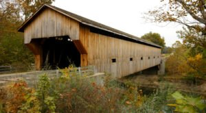 The Longest Covered Bridge In Illinois, Cumberland County Covered Bridge, Is 200 Feet Long