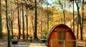 Sleep In This Tiny Georgia Barrel Cabin, Mere Minutes From A Huge Waterfall