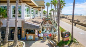 The Beachside Cafe In Southern California, Sandy's Beach Shack, Where It's Summer All Year Long