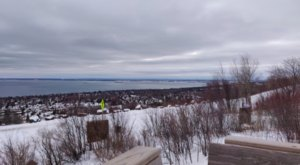 Look Out Over The North Shore's Wintry Landscape At Hawk Ridge In Duluth, Minnesota