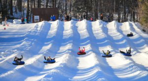 With 9 Lanes, New Hampshire's Largest Snowtubing Park Offers Plenty Of Space For Everyone