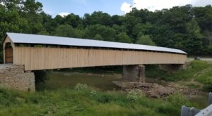 The Longest Wooden Covered Bridge In Kentucky, Beech Fork Covered Bridge, Is 210 Feet Long