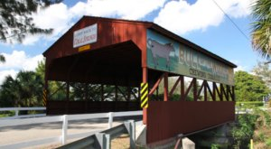 The Longest Covered Bridge In Florida, Coral Springs Covered Bridge, Is 40 Feet Long
