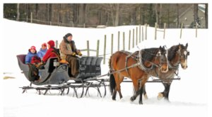 Take a Charming Ride Through Wintry Woods With A Sleigh Ride At Charmingfare Farm In New Hampshire