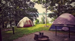 Choose From A Number Of Waterfront Campsites At The Scenic Bailey's Point Campground In Kentucky