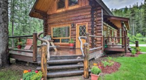 Hide Away From The World At This Magnificent Mountain Cabin In Montana