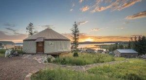 Go Glamping In Any Season At This Cozy Lakeside Montana Yurt