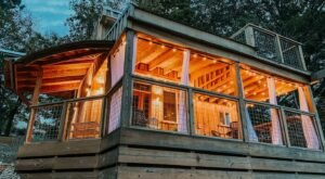 This Tiny Home AirBnB Right On The Riverfront In East Tennessee Offers Some Of The Best Views Around