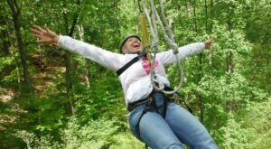 Take A Ride On The Longest Zipline In Indiana At eXplore Brown County