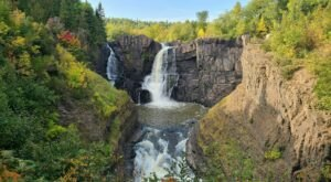 The High Falls Trail In Minnesota Is A 1.2-Mile Out-And-Back With A Waterfall Finish