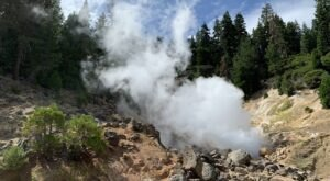 Take In The Sight Of A Massive Steaming Vent On The Terminal Geyser Trail In Northern California