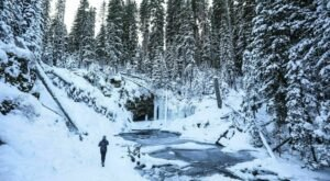 These 4 Winter Waterfall Hikes In Montana Are The Cure For Cabin Fever