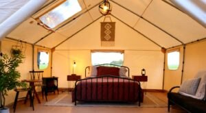Go Waterfront Glamping In Oklahoma And Experience Camping Like Never Before
