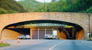 Drive Through The Cumberland Gap Tunnel In Kentucky, One Of The Only Mountain Tunnels That Crosses A State Line