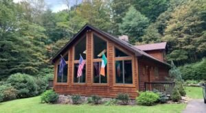 Soak In A Hot Tub Surrounded By Natural Beauty At This Cabin Near Pittsburgh