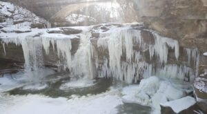 Take A Majestic Winter Hike And Marvel At Two Frozen Waterfalls At Cascade Park In Ohio