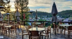 Perched Atop A Hill, The Cottonwood Restaurant In Northern California Boasts Views As Good As The Food