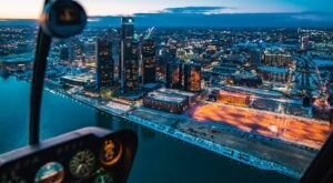 Take The Romance To New Heights With A Valentine's Day Helicopter Tour In Michigan