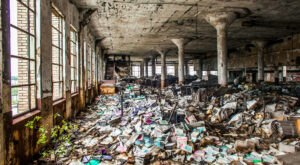 Everyone Should See What's Inside The Walls Of This Abandoned Book Warehouse In Detroit