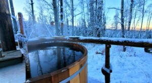 Watch The Northern Lights From This Wood Fired Cedar Hot Tub In Alaska