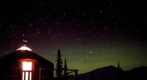 Gaze At The Aurora From Your Very Own Cozy Yurt In Alaska This Winter