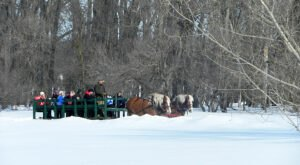 Go Sledding, Take A Horse-Drawn Carriage Ride, And More At Winterfest In One Of North Dakota's State Parks