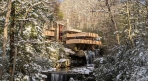 Bundle Up For A Scenic Winter Walk Along The Grounds Of Fallingwater Near Pittsburgh