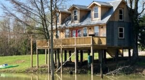 Stay Lakeside In A Rustic Treehouse Cabin Surrounded By 800 Acres In Illinois