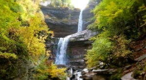 The Kaaterskills Falls Trail In New York Is A 2.6-Mile Out-And-Back Hike With A Waterfall Finish